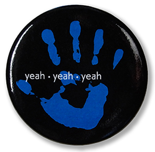 Blue Hand Button
