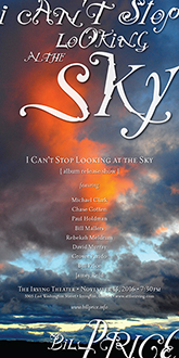 I Can't Stop Looking at the Sky Album Release Show Poster Version 1