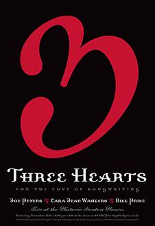 Three Hearts: For the Love of Songwriting Show Poster