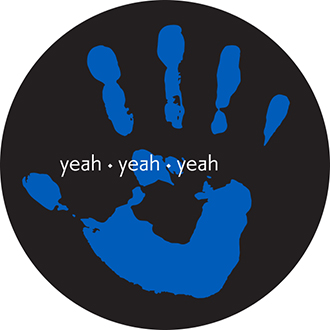 Blue Hand Vinyl Sticker