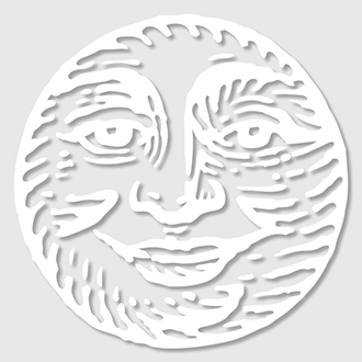 Skeptic Moon Sticker